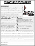 LEGO Robotics Letter and Application