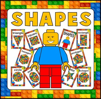 LEGO SHAPES POSTERS TEACHING RESOURCES AND DISPLAY KS1-2 EARLY YEARS MATHS