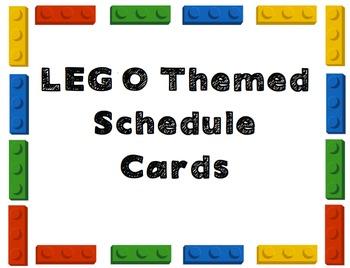 LEGO Schedule Cards