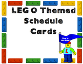 LEGO Schedule Cards with Hot Pink