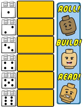 Dolch Sight Words Game -- Roll! Build! Read!