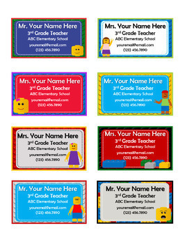 LEGO Like Teacher Contact Cards - Meet the Teacher - PowerPoint w/ Instructions