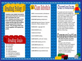 LEGO Like Teacher Introduction Brochure & Newsletter Template- Editable PPT File