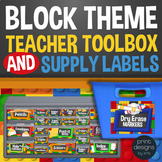 Block Style Teacher Toolbox Drawer & Supply Labels - Build