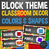 Block Style Theme - Colors & Shapes Classroom Signs