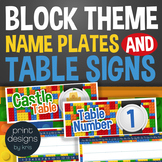 Block Style Name Plate Labels and Table Labels in Numbers