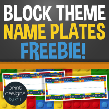LEGO Theme Name Plates for Classroom Decor by Print Designs by Kris