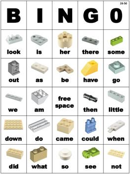 LEGO Themed Dolch Sight Word BINGO