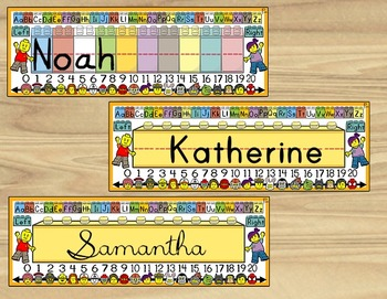 Toy Brick-Themed Name Plates, Name Tags & Labels!