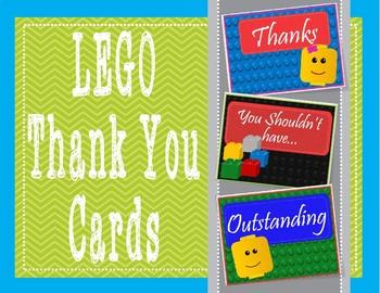 LEGO Like Way to Go - Thank You Cards - FREEBIE!!!