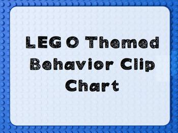 LEGO themed Behavior Chart