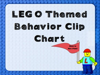 LEGO themed Behavior Chart with Hot Pink