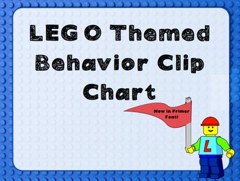 LEGO themed Behavior Chart with Primer Font