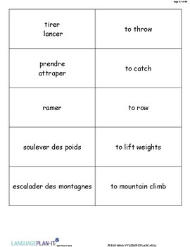 LEISURE FLASHCARDS (FRENCH)
