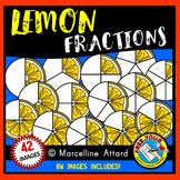 LEMON FRACTIONS CLIPART: FOOD FRACTIONS CLIPART