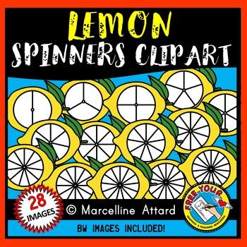 LEMON SPINNERS CLIPART: LEMONS CLIPART: FOOD CLIPART