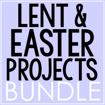LENT AND EASTER BUNDLE   Journal   Coloring Pages   Posters