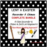 LENT & EASTER - BUNDLE of 6 Songs - Easy Recorder, Chimes & Bells Arrangements