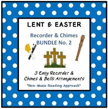 LENT & EASTER - No. 2 BUNDLE - 3 Easy Recorder, Chimes & Bells Arrangements