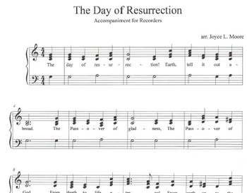 LENT & EASTER  Six 2-Part Songs for RECORDER