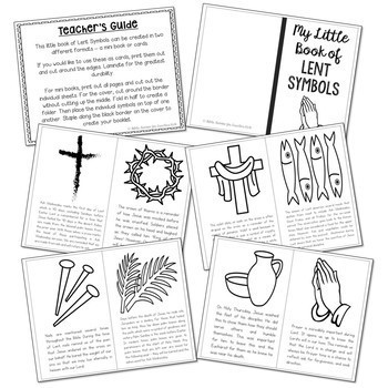 LENT Symbols Posters Coloring Pages And Mini Book Easter Holy Week