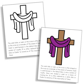 LENT Symbols Posters, Coloring Pages, and Mini Book | Easter | Holy Week