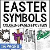 LENT Symbols Posters, Coloring Pages, and Mini Book   Easter   Holy Week