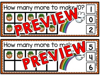 LEPRECHAUN TASK CARDS: MAKING TEN: ST. PATRICK'S DAY MATH CLIP CARDS