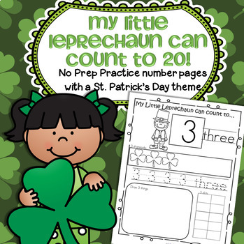St. Patrick's Day Number Practice Printables - Recognition