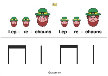 LEPRECHAUNS RHYTHM CARDS