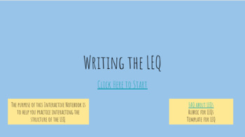LEQ (Long Essay Question) Interactive Whiteboard