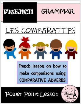 LES COMPARATIFS: Power Point Lesson on French Comparatives