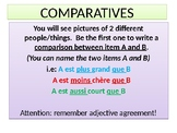 LES COMPARATIFS: Review Game on French Comparatives