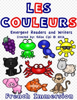 LES COULEURS! French Emergent Readers & Writers! Check out