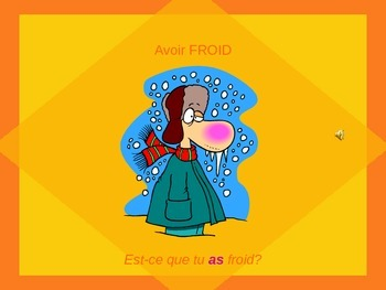 """LES EXPRESSIONS AVEC AVOIR: PP Lesson on Idiomatic Expressions that use """"Avoir"""""""