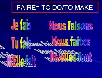 """LES EXPRESSIONS AVEC FAIRE: PP Lesson on Idiomatic Expressions that use """"Faire"""""""