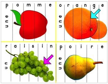 LES FRUITS (1 puzzle vaut 1000 mots)