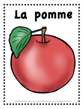 LES FRUITS - FRUITS IN FRENCH
