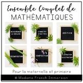 LES MATHEMATIQUES BUNDLE (French Kinder & Primary Math Cen