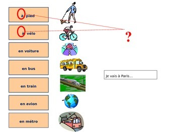 LES MOYENS DE TRANSPORT: French Power Point Lesson on Modes of Transportation