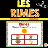 LES RIMES  - FRENCH BOOM CARDS™️  French Distance Learning