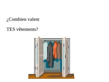 LES VÊTEMENTS: Fun Game to Review French Vocabulary on Clothes