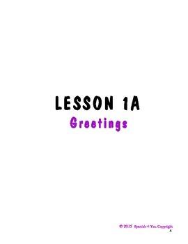 K - 3RD - LESSON 1 - GREETINGS & PEOPLE