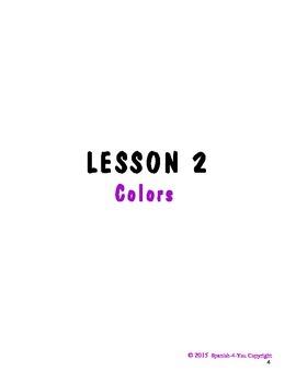 K - 3RD - LESSON 2 - COLORS