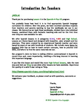 HIGH SCHOOL - LESSON 4 - ACTIVITIES