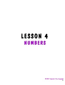 K - 3RD - LESSON 4 - NUMBERS 1 - 10