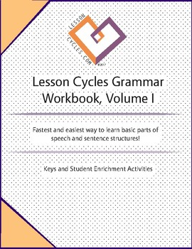 LESSON CYCLES GRAMMAR WORKBOOK, Volume I