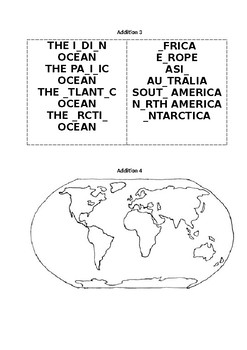 LESSON PLAN CONTINENTS AND OCEANS