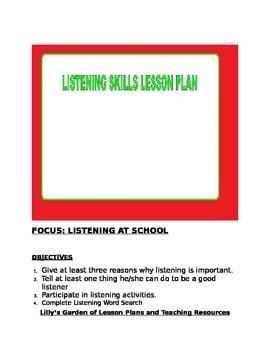 Listening Skills Lesson Plan