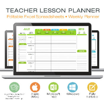 LESSON PLAN TEMPLATE - TEACHER - Digital for Microsoft Excel Windows or Mac